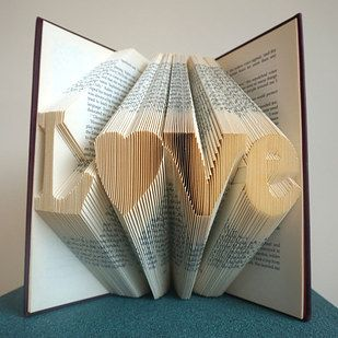 via Buzzfeed's 16 Perfect Valentine's Day Gifts For Book Nerds - folded book pages