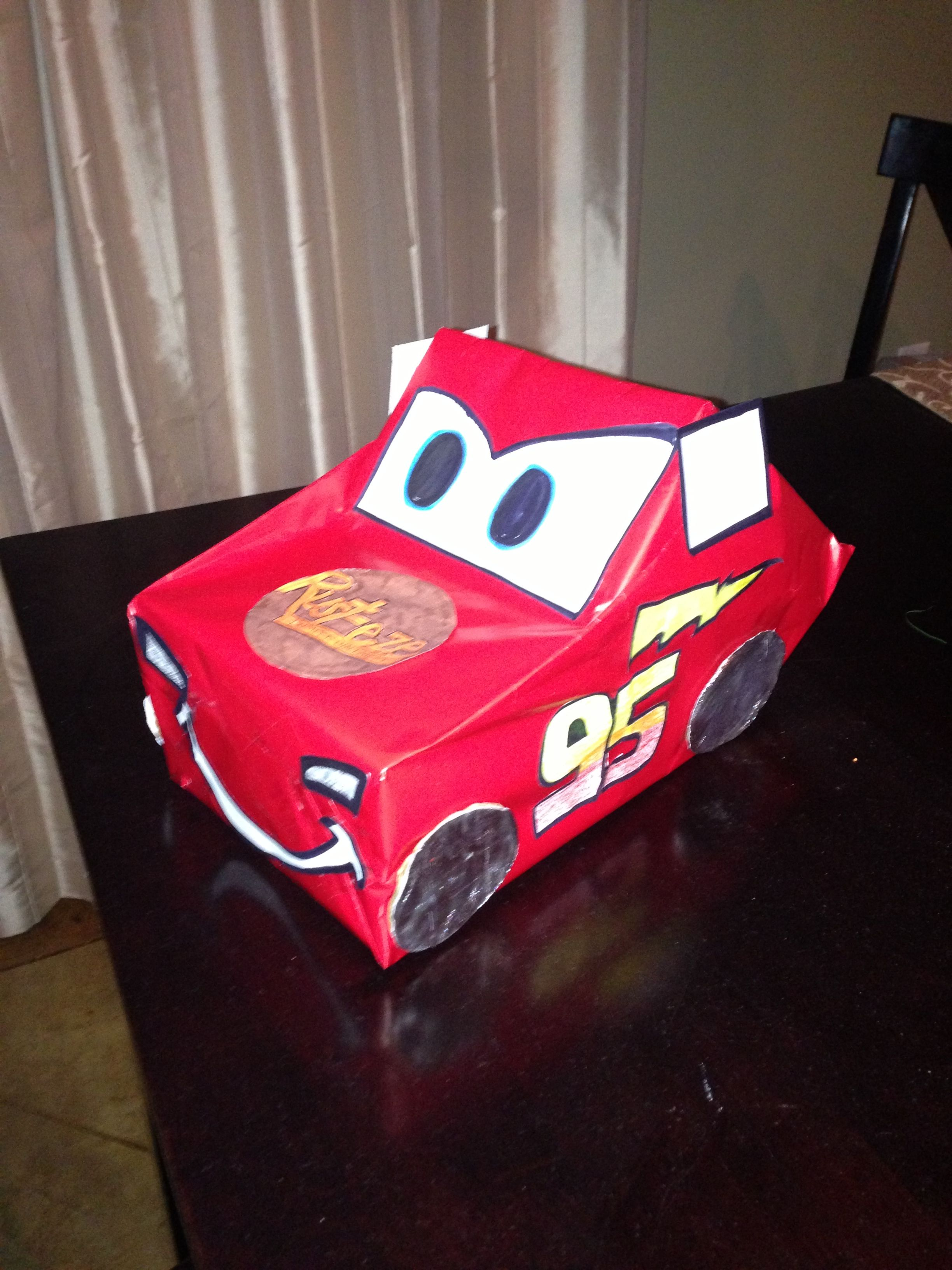 Lightning McQueen Valentines Day Box Ideas for kids