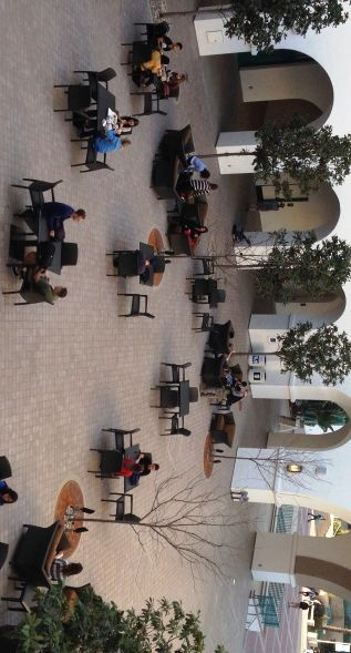 SDSU student union courtyard    antecedent
