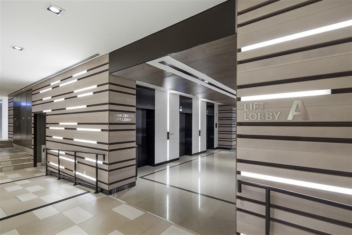 Lift lobby / Wall design / Wall lighting at Shaw Centre ...