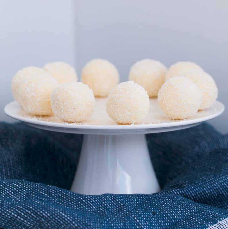 Lemon White Chocolate Truffles No Bake Dessert Recipe In 2020 White Chocolate Truffles Chocolate Truffles Chocolate Weetbix Slice