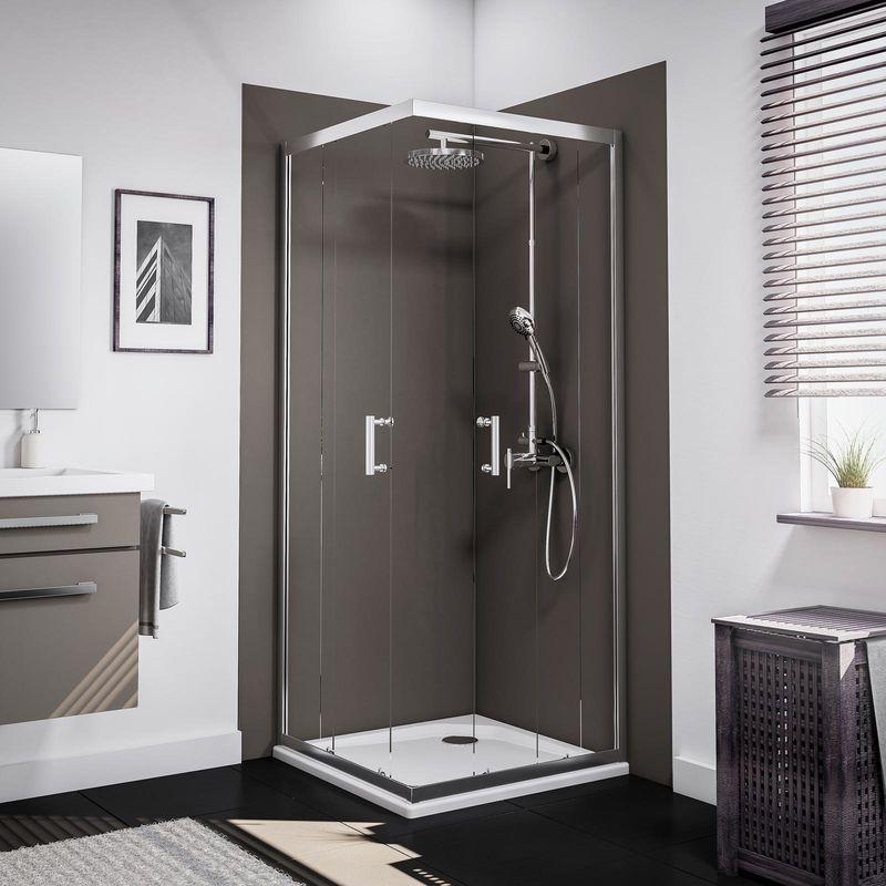 Accès d'angle avec portes de douche coulissantes, 5 mm