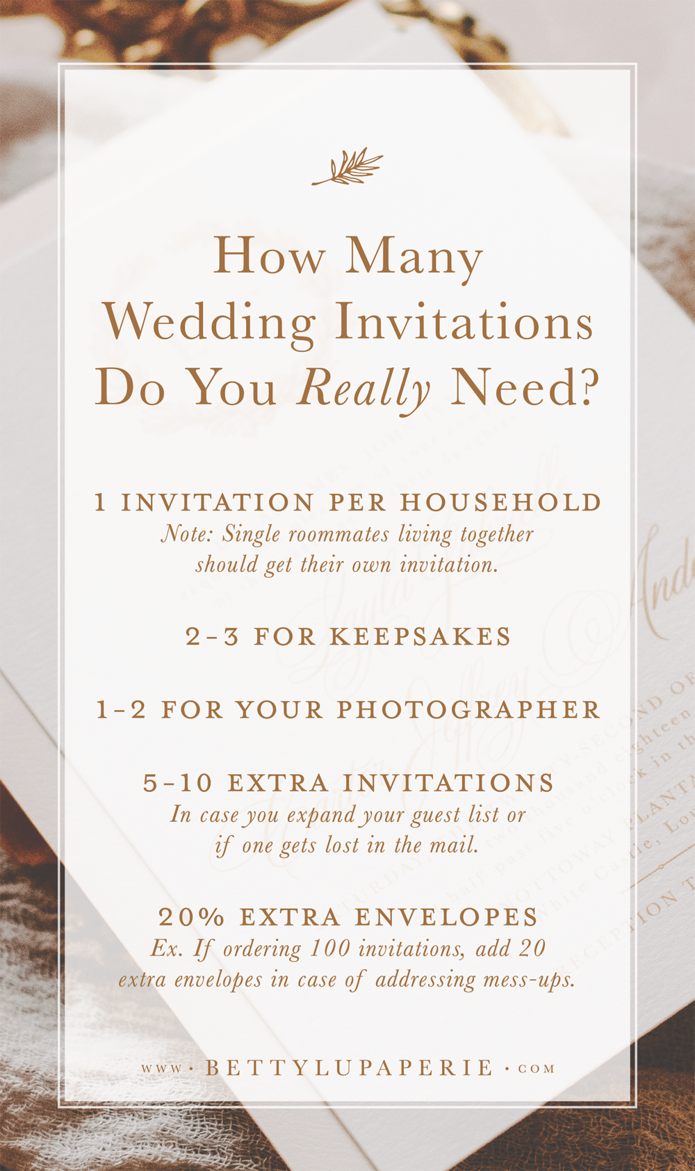 Find Out How Many Wedding Invitations To Order A Girl Can Dream