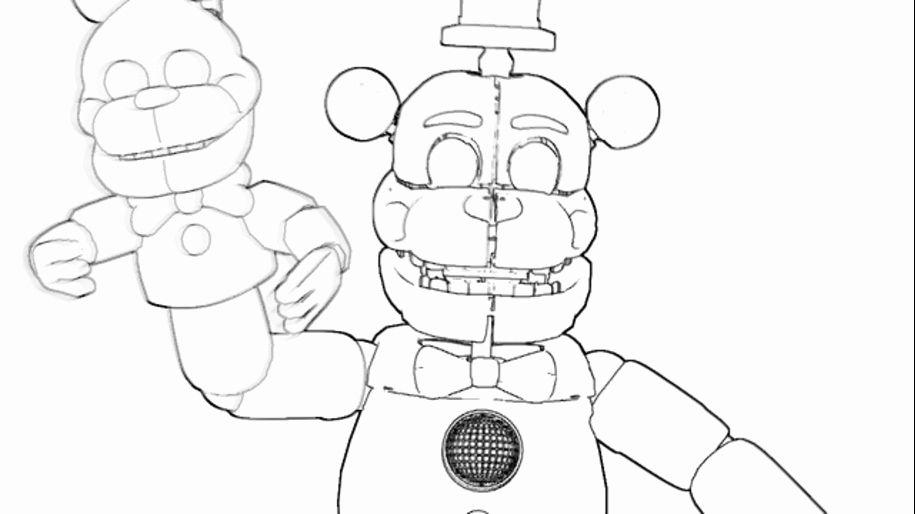 Funtime Freddy Coloring Page Inspirational Sfm Funtime Freddy