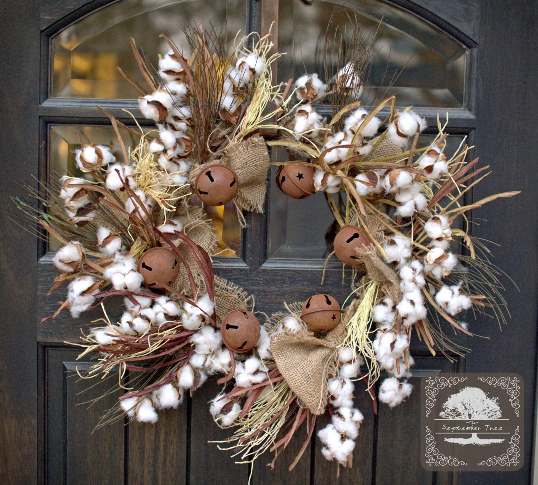 Christmas wreath burlap wreath cotton wreath bell wreath christmas wreath burlap wreath cotton wreath bell wreath pine wreath front door wreath welcome wreath wreath home decor rubansaba