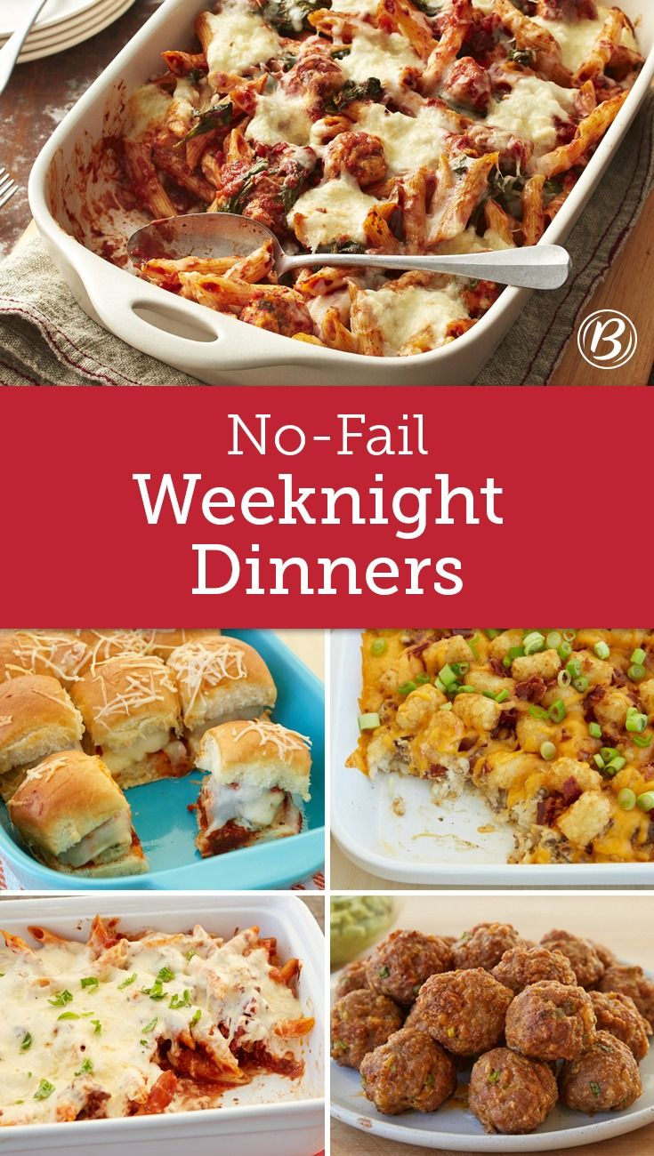 Your New No Fail Dinner Lineup New Recipes For Dinner Cooking