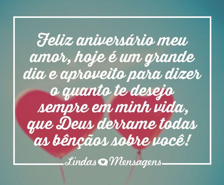 Feliz Aniversario Amor Da Minha Vida Mensagem De Feliz