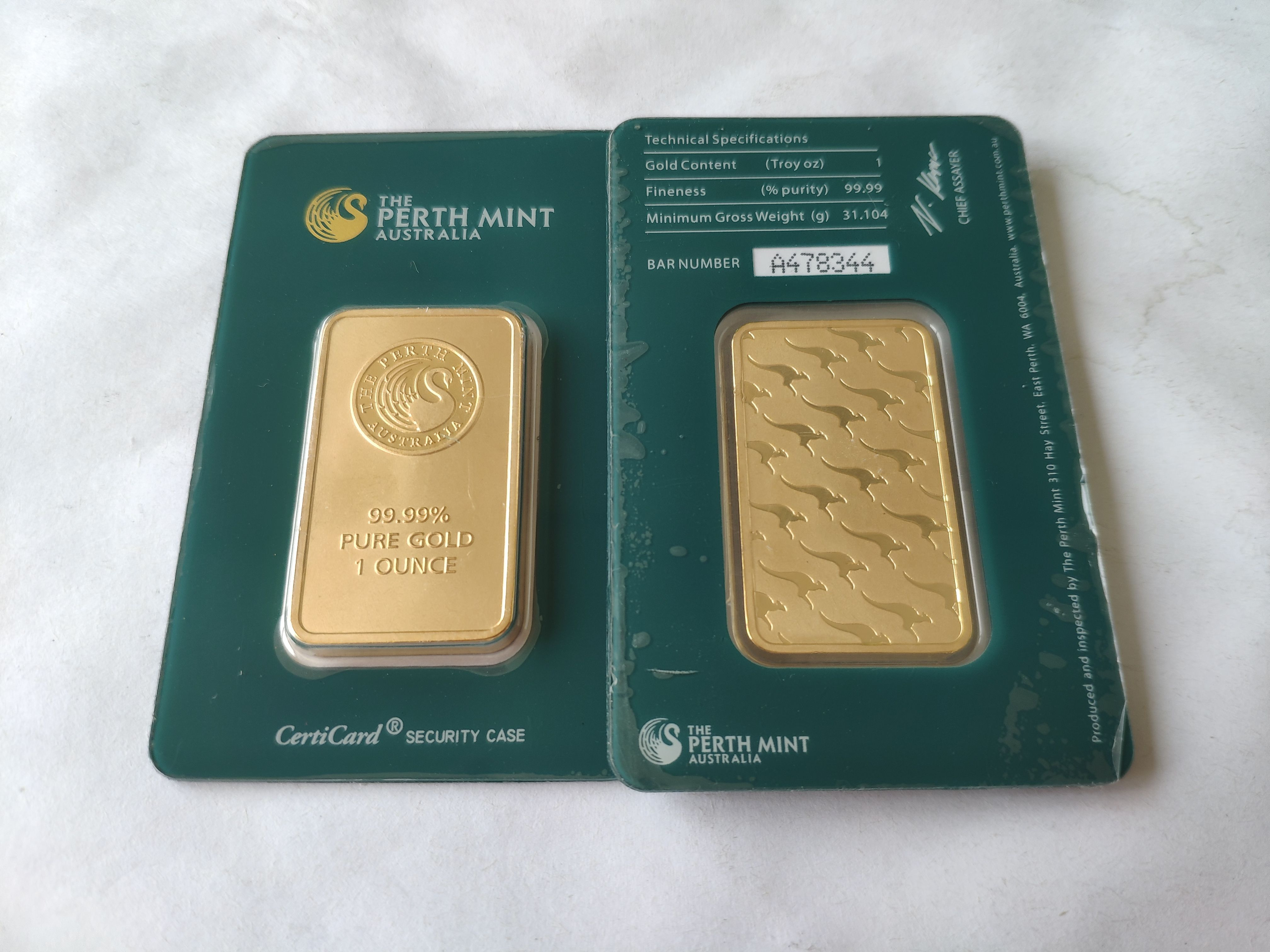 Australia The Perth Mint 1 Ounce 99 99 Pure Gold Plated High Relief Replica Souvenir Token Gold Bar Business Gifts You Are The Father Writing Supplies
