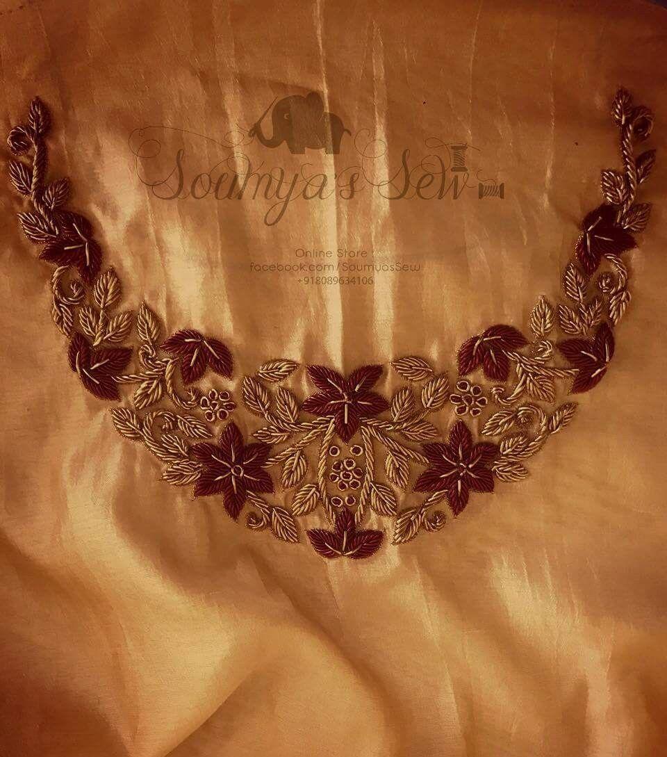 Pin de Meera Devaraj en embroidery   Pinterest   Taller de costura ...
