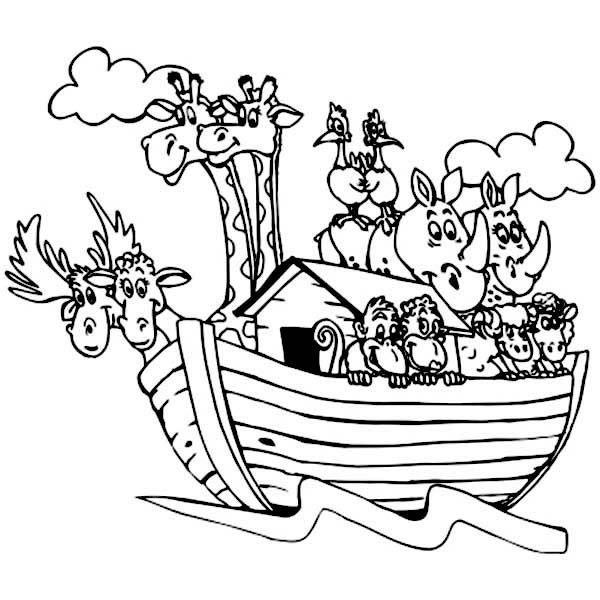 Noah ark coloring pages printable murderthestout for Noah s ark printable coloring pages