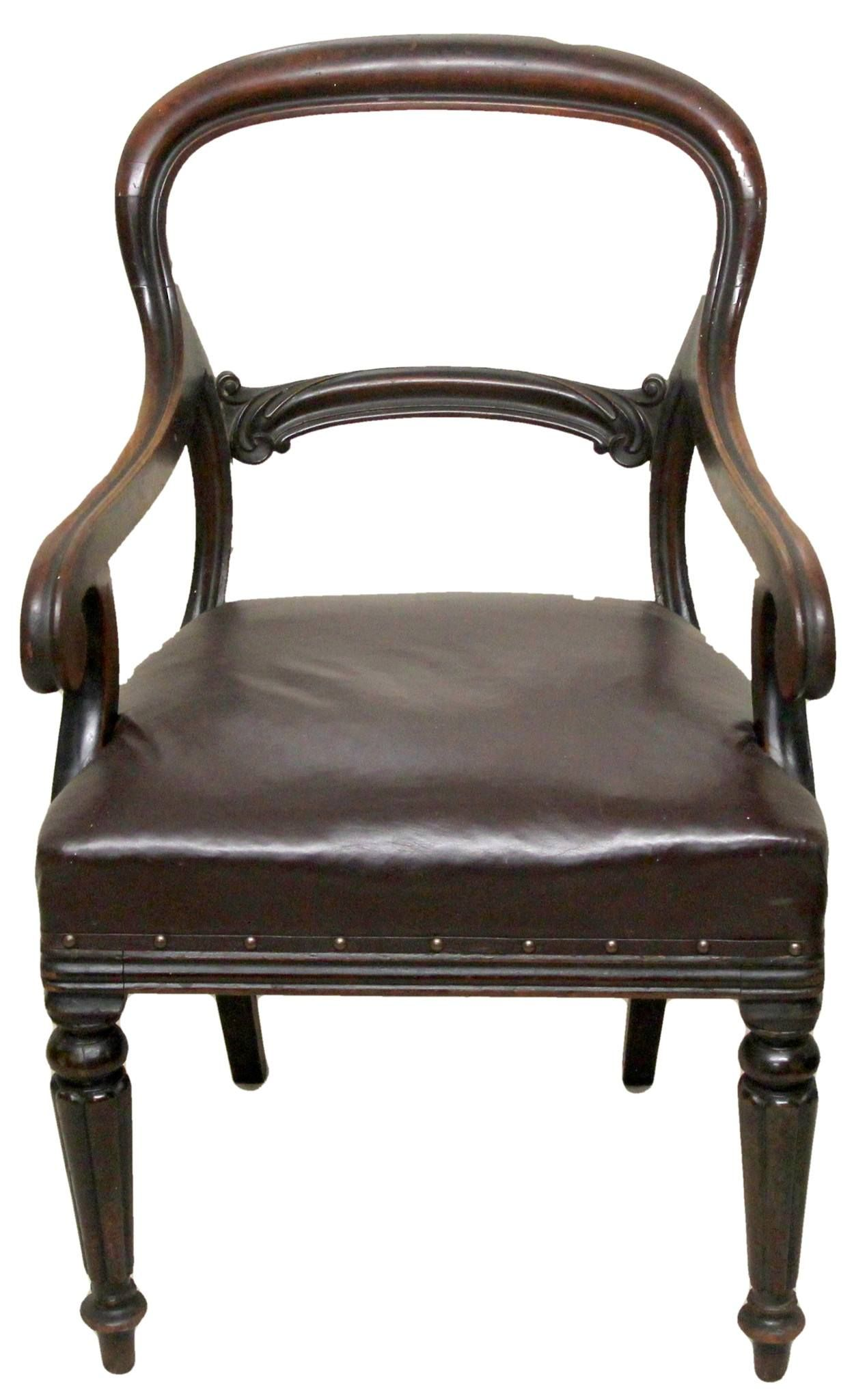 Antique Mahogany Office Chair Original Eames Lounge Chairs Victorian Desk