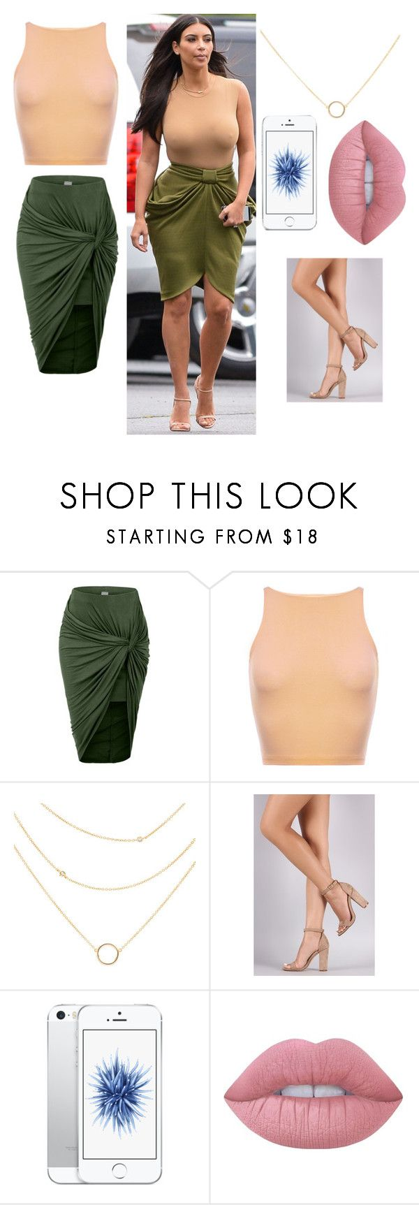 """""""Kim's outfit"""" by raitanenanni ❤ liked on Polyvore featuring LE3NO and Lime Crime"""