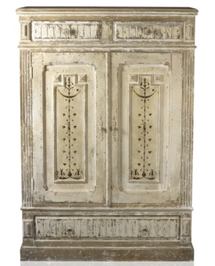 Merveilleux Painted Rustic Armoire Cabinet U2013 Allissias Attic U0026 Vintage French Style