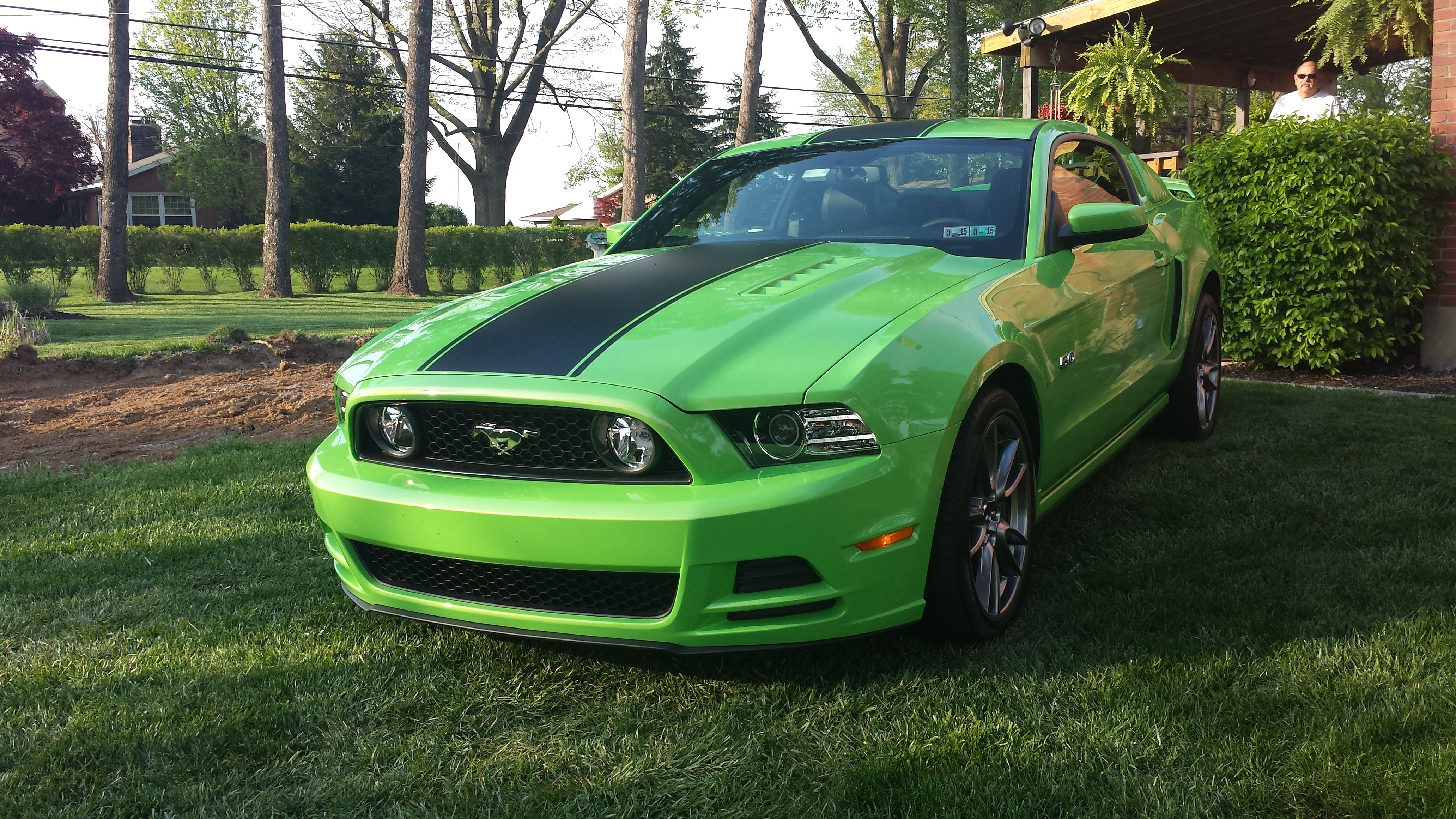 2014 Ford Mustang GT 5 0 Coyote motor in Gotta have it green