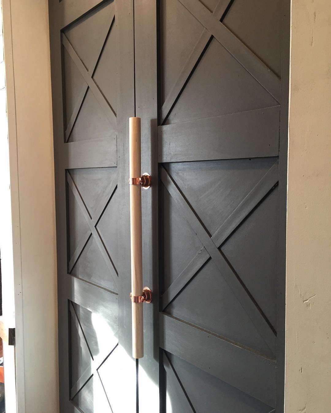 Bryan Catherine On Instagram Wooden Dowel Copper Bell Hanger Fancy 4 Hardware In 2020 Door Handles Interior Hardware Hanger