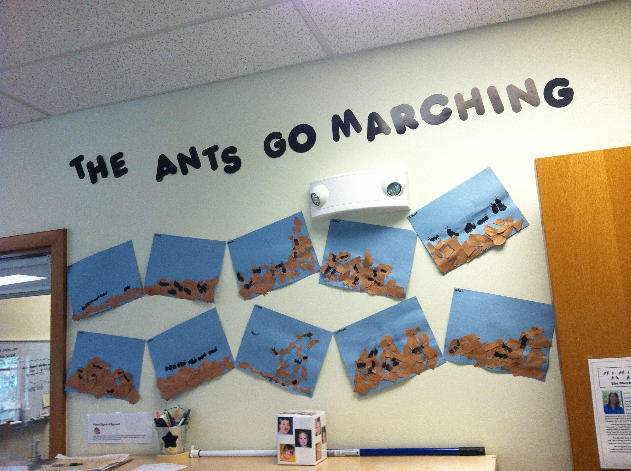 Finger Paint Ant Hill Project