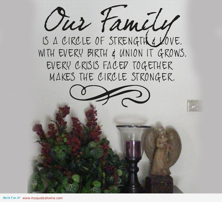 Our Family Is A Circle Of Strength And Love Wall Words Decal Quotes Verse Home Decor Stickers Lettering