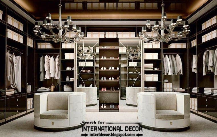 Stylish Art Deco wardrobe and walk in closet furniture for bedroom