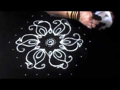 drawing simple diwali rangoli designs with dots