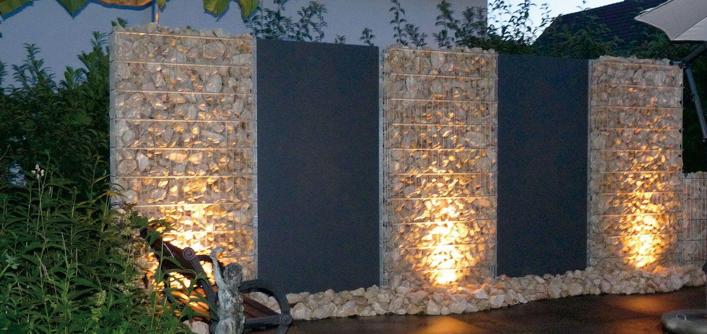 Zaunteam Zaune Zaun Zaunbeleuchtung Gabionen Zaun Beleuchtung Sichtschutzzaun Garten Zaun Garten
