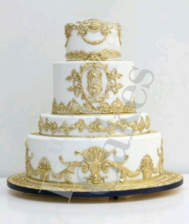 Baroque Wedding Cake Hochzeit ganz in gold Pinterest