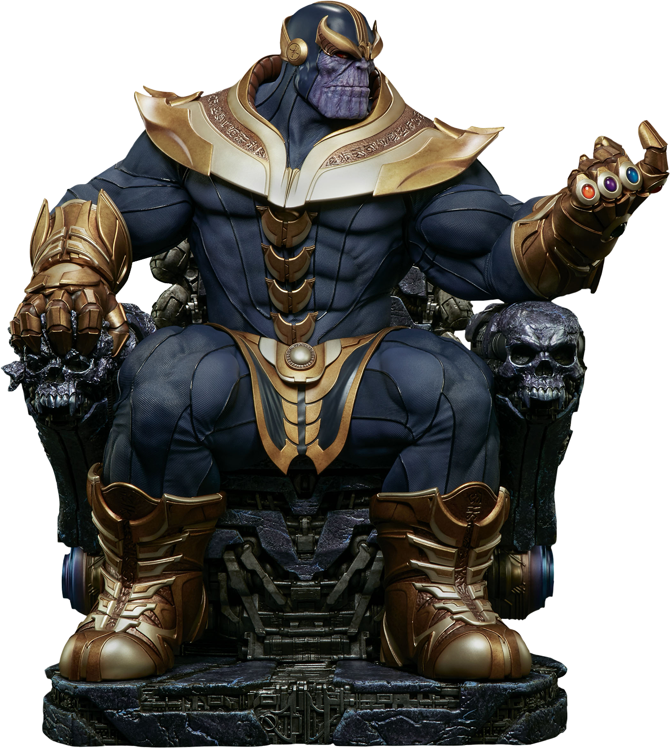 The Infinity Gauntlet Thanos On Throne 21 Maquette Statue By Sideshow Collectibles Popcultcha Marvel Statues Marvel Thanos Marvel