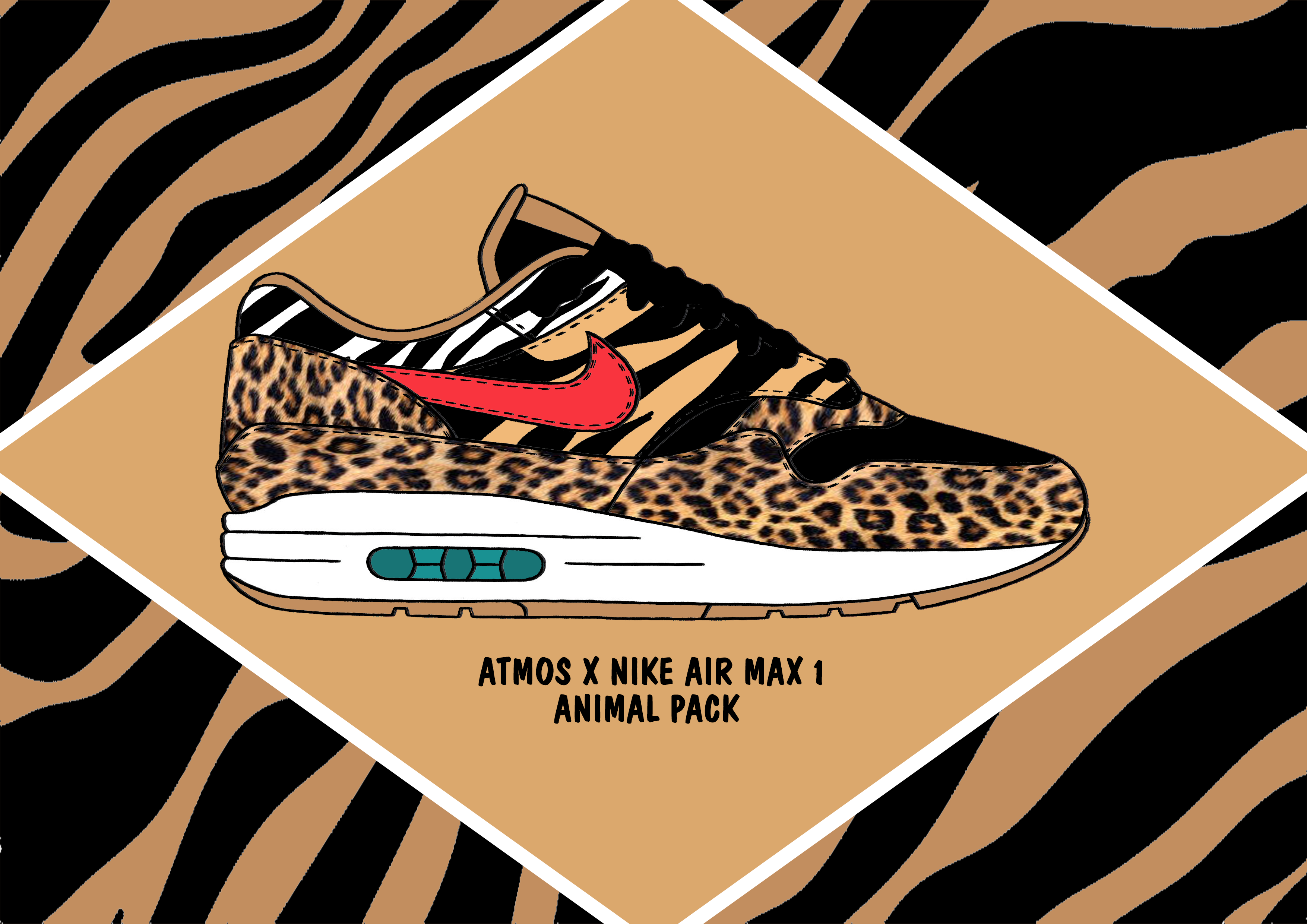 new concept d8968 c00e3 Atmos x Nike Air Max 1 Animal Pack | eleven23design in 2019 | Nike ...