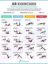Die absolut besten Bauchübungen für Frauen - Yoga & Fitness - #absolut #Bauch...  Die absolut besten...