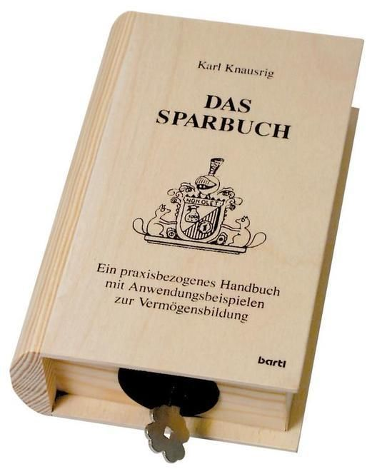Sparschwein Sparbuch Sparkasse in Buchform Spardosen