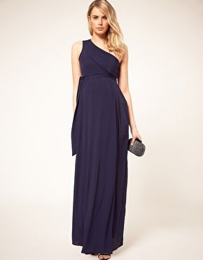 Enlarge ASOS Maternity Exclusive One Shoulder Maxi Dress