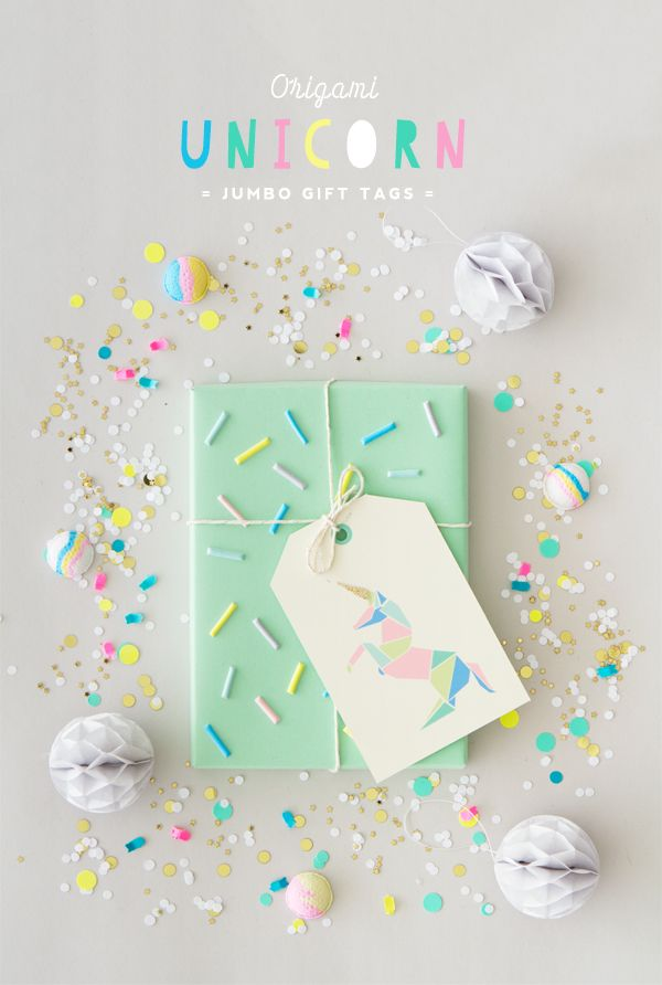 Free Printable Origami Unicorn Gift Tags (Oh Happy Day!) | Free ...