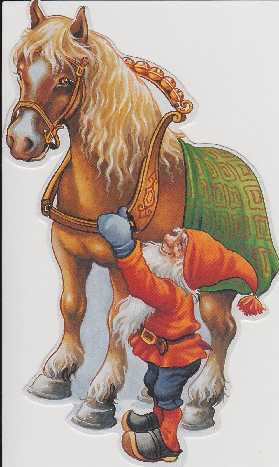 CHRISTMAS GNOME AND PONY CLIP ART