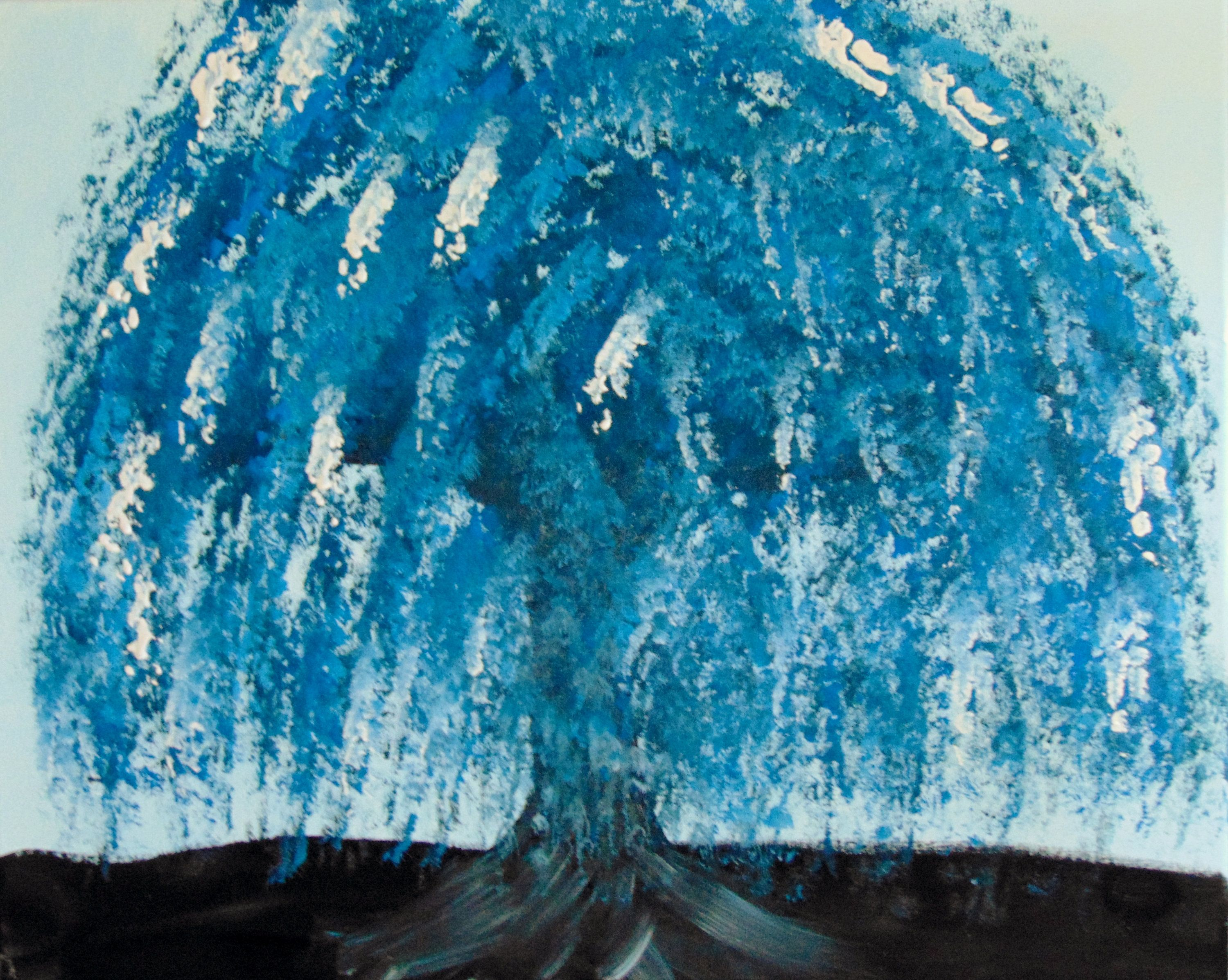 Blue Willow Tree Digital By Jensartandstuff On Etsy