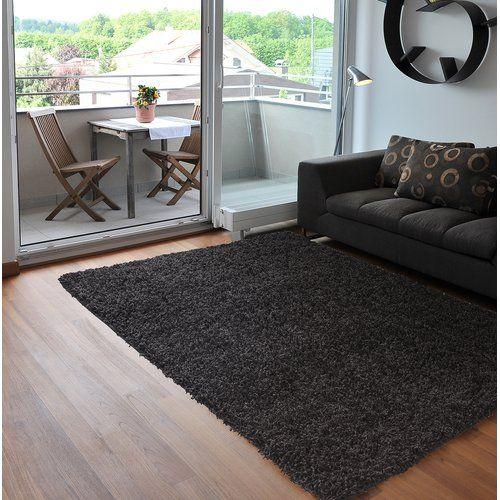 Wayfair Basics Verona Dark Grey Area Rug Rugs In Living Room