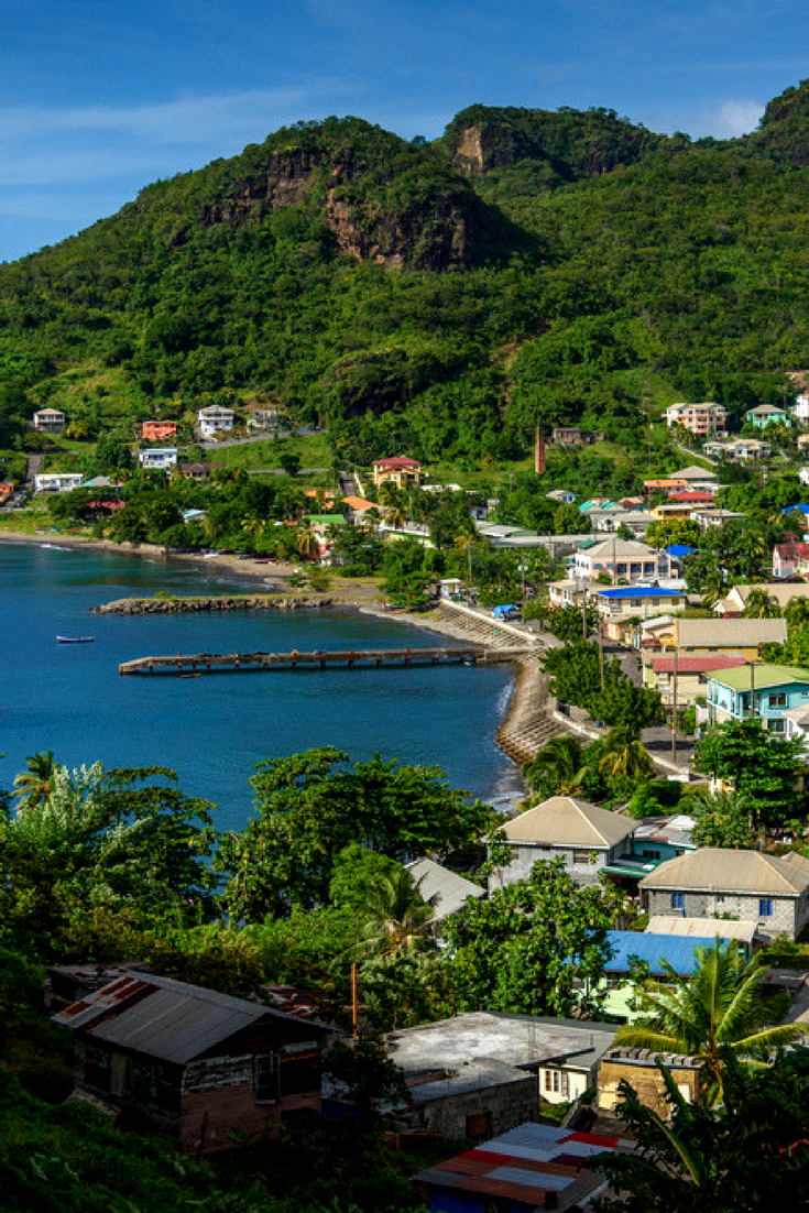 View Of Barrouallie In Saint Vincent And The Grenadines Manzara