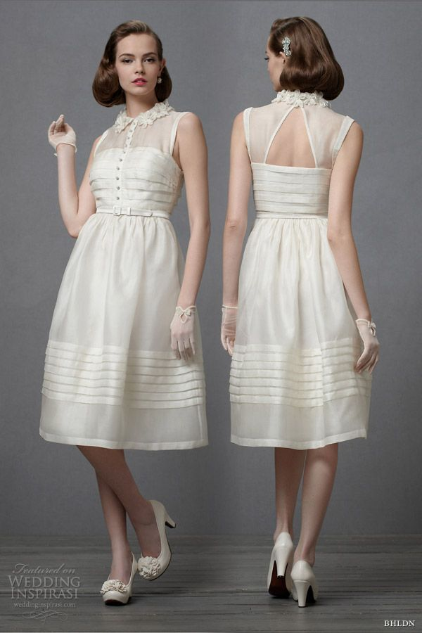 Not Usually A Fan Of The Short Wedding Gown But This Is An Exception To My Rule Bhldn 2012 Retro Dress