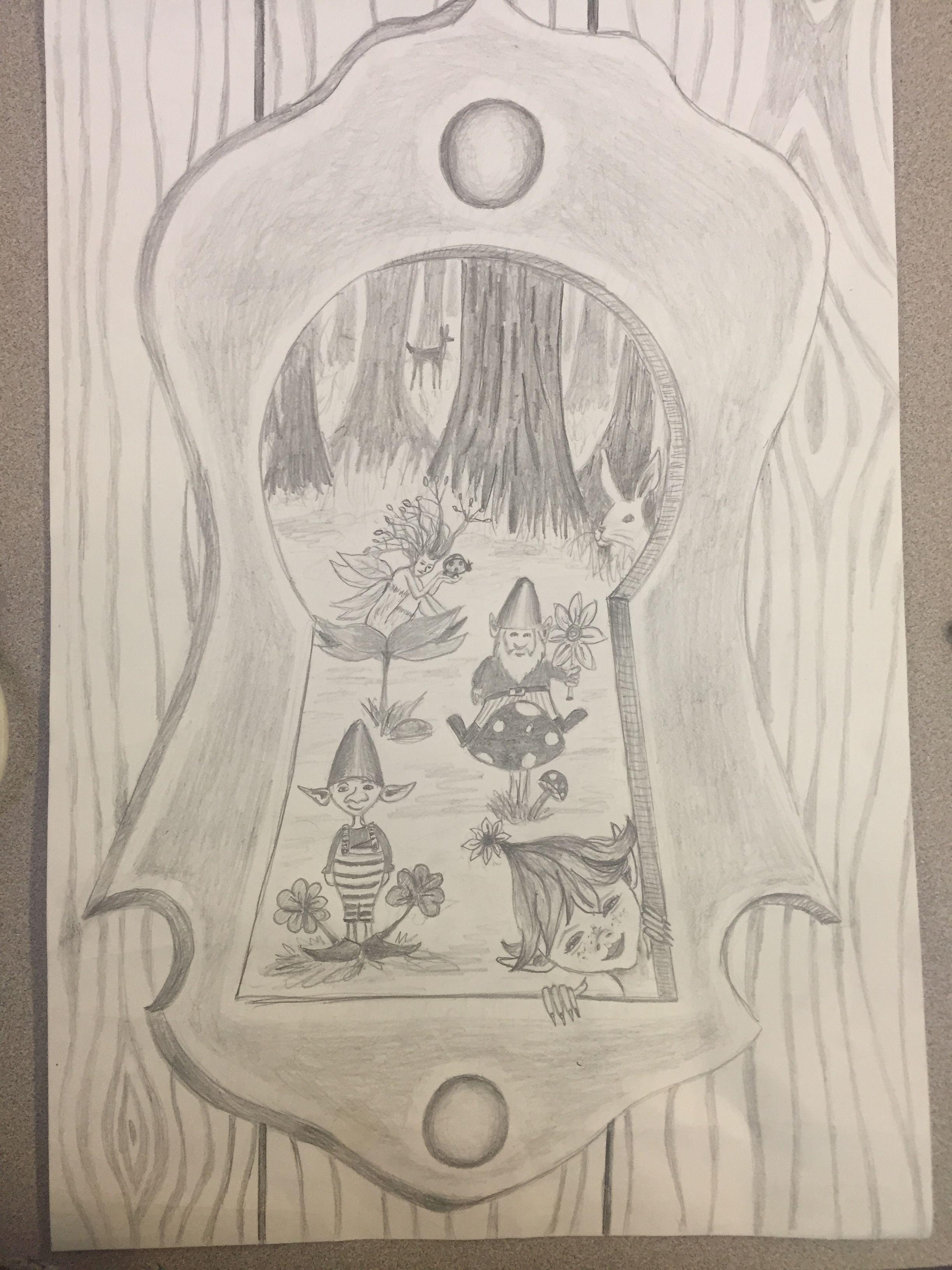 Keyhole drawing