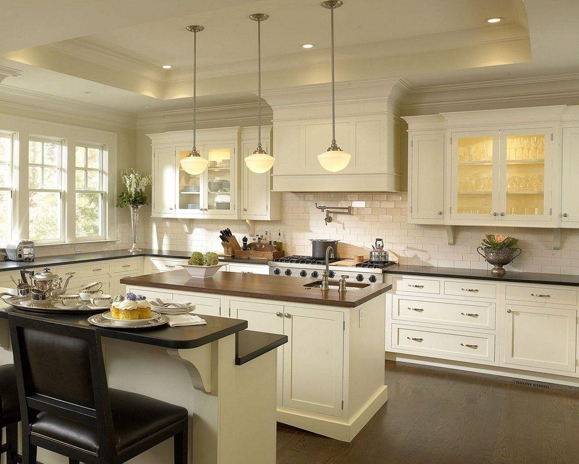 Kitchen Cream Kitchen Cabinets Black Granite Countertops Pictures Of Kitchens With W Antique White Kitchen Kitchen Cabinet Styles White Kitchen Interior Design
