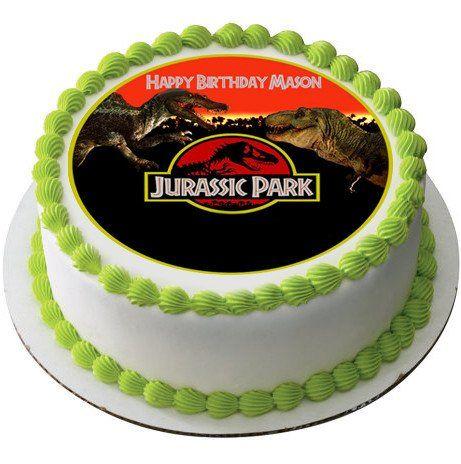 Jurassic Park Edible Birthday Cake Topper OR Cupcake ...