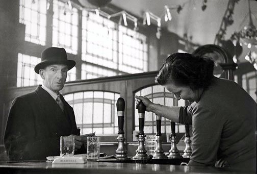 "Brent Hannon  ""Man with Hat in Pub. London, 1956"""
