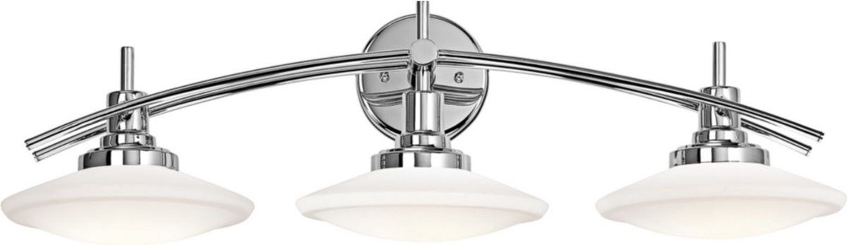 "Fresh 0 30""w Structures 3 Light Bath Vanity Chrome Modern - Latest 3 light bathroom fixture Pictures"