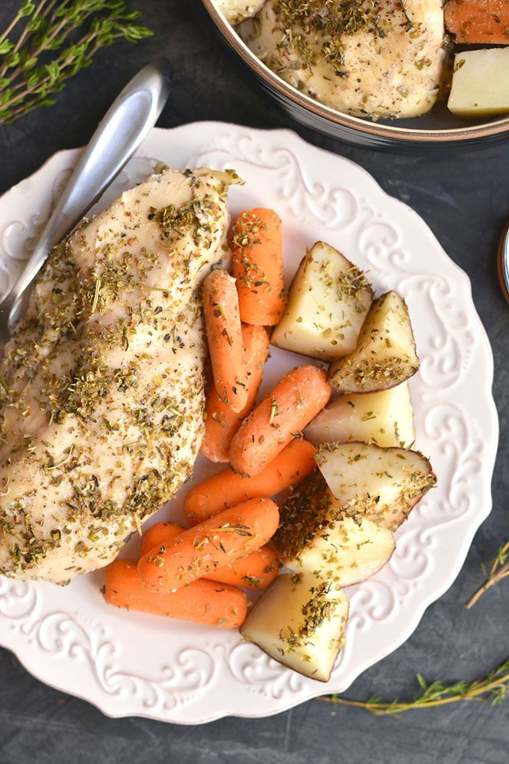 Chicken Carrots Amp Potatoes Made In A Slow Cooker This