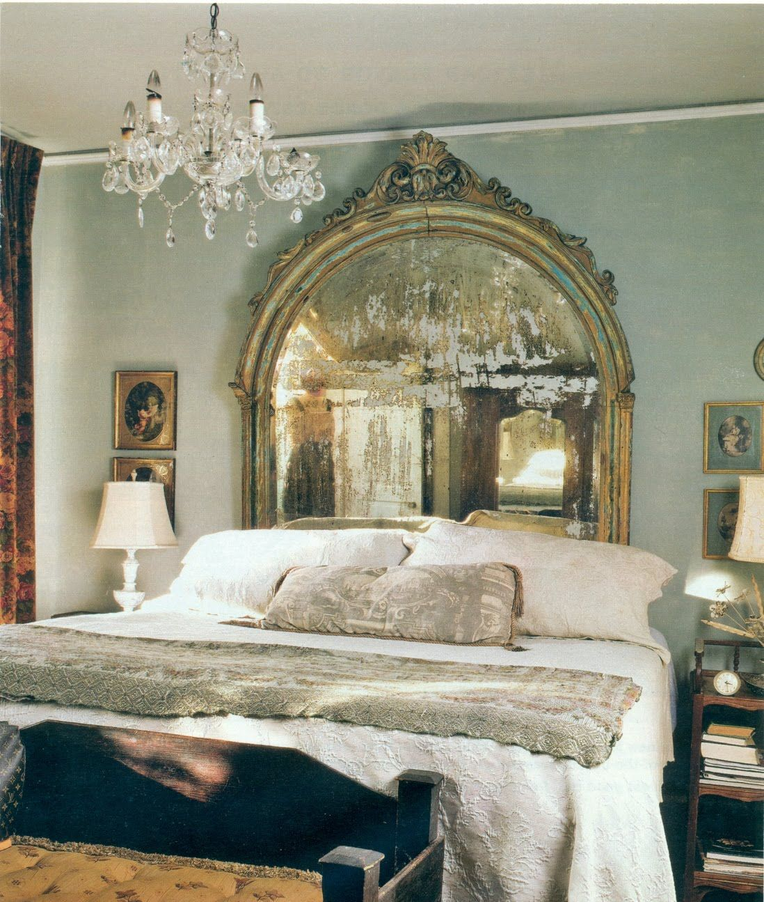 not only the mirror headboard but the walls and color!