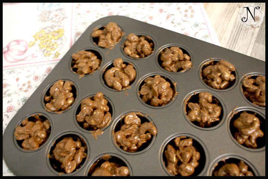 You CAN have your cake and eat it too.: Chocolate nuts / Oreščki obliti s čokolado