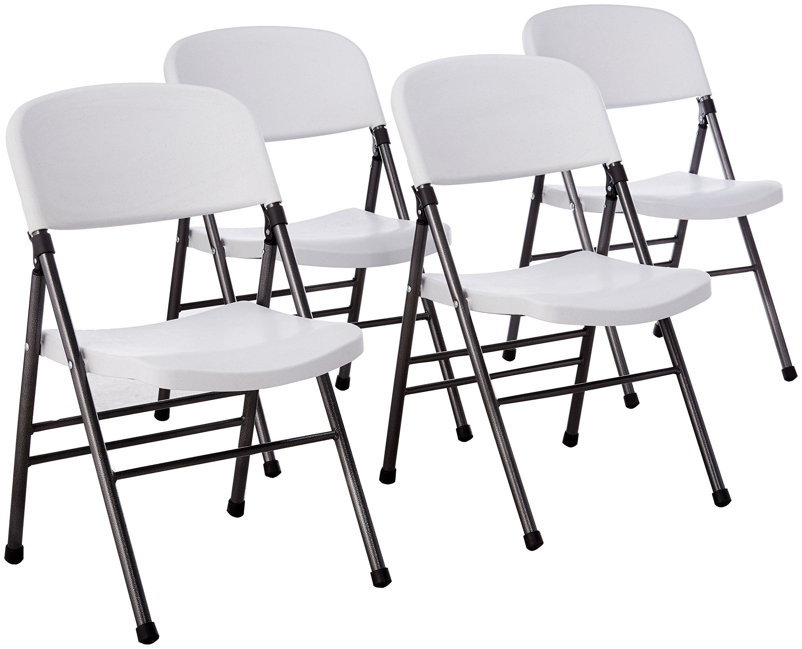 Cosco Resin 4 Pack Folding Chair With Molded Seat And Back White Folding Chair Best Folding Chairs Padded Folding Chairs