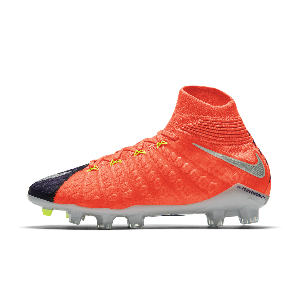 Nike Hypervenom Phantom 3 DF FG Little Big Kids  Firm-Ground Soccer Cleats  Size 5Y (Blue) - Clearance Sale 51b7c83c0ab42