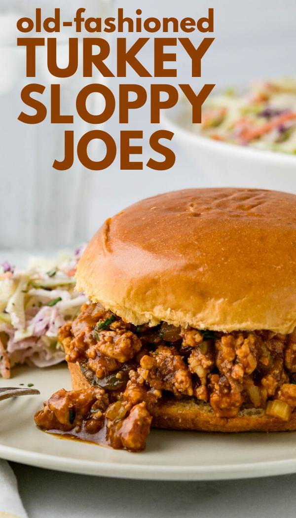 Old Fashioned Sloppy Joes with Ground Turkey Breast | Garlic & Zest