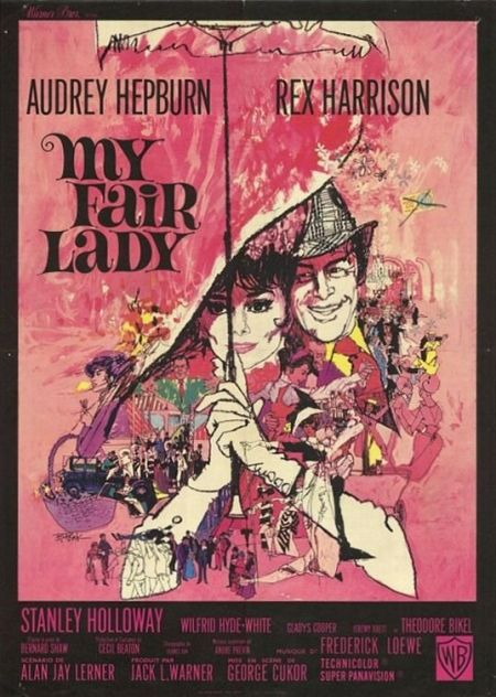"""Oct. 21, 1964. The movie musical """"My Fair Lady,"""" starring Audrey Hepburn and Rex Harrison, premieres at the Criterion Theater in New York."""