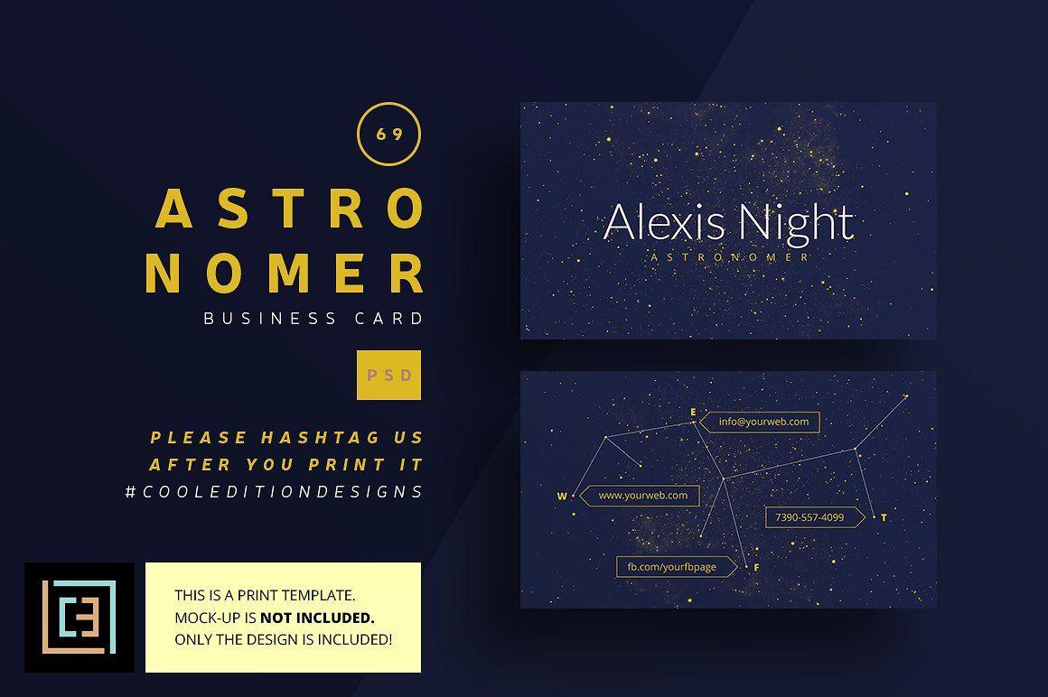 Astronomer Business Card 69 Business Cards Drucke Pinterest
