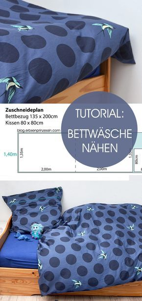 Tutorial: Bettwäsche nähen | Nähen | Pinterest | Bettbezug, Selber ...